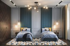 Сhildren's room 13 on Behance Boy Bedroom Design, Room, Bed Design, Bedroom Design, Luxurious Bedrooms, Bedroom Inspirations, Bedroom Lamps Design, Classic Kids Bedrooms, Classic Bedroom