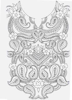 Kashmiri hand embroidery patterns - Google Search