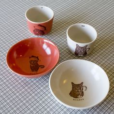 Lil BUB Handmade Porcelain Complete Holiday Wee Tea and Bowl Set (Limited Holiday Edition)