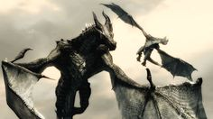 skyrim dragons flying - Google Search