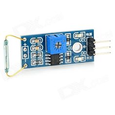 Hongyang MO-01 Sensor Module - Silver + Blue + Multicolored. Purpose: program-controlled switches, copy machine, washing machines, refrigerators, cameras, sterilized kitchen cupboards, door magnetic, magnetic window, electromagnetic relays, electronic weighing apparatus, level meter, gas meter, water meter and so on got very good application. Adopt imported normally open type dry reed pipe. Comparator output, signal clean, good waveform, driving ability is strong, for more than 15mA. The…
