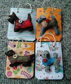 Felt dog brooch by PerinBaba on Etsy