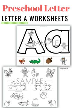 Teaching preschool letter recognition? How about beginning sounds? These preschool letter a worksheets are just what you need. They are hands on and can be used over and over again.