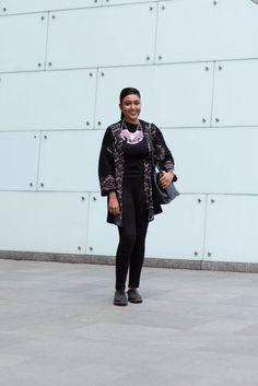 SHENTONISTA: Quick Escapes. Sa'eedah, Service. Necklace from Lovisa, Cardigan from Pull & Bear, Knit Top from ZARA, Pants from ZARA, Shoes from Clarks. #shentonista #theuniform #singapore #fashion #streetystyle #style #ootd #sgootd #ootdsg #wiwt #popular #people #male #female #womenswear #menswear #sgstyle #cbd #Lovisa #PullandBear #ZARA #Clarks