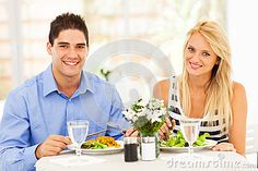 Couple Having Lunch Royalty Free Stock Image - Image: 28702836