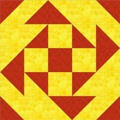 Bloco feito de quadrados de triângulos