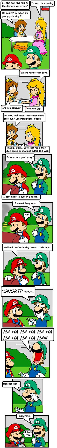 cake in the oven 5 by Nintendrawer Ohhhh I love this *goes into own little fantasy about Mario and Peach being married and stuff*