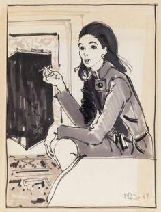 Mica Ertegun by Kenneth Paul Block. Mica Ertegun, Kitty Hawk, Museum Of Fine Arts, Fashion Drawings, Fashion Illustrations, Fashion Art, Figure Drawing, Illustrators, Illustration Art