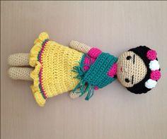 Frida muñeca del ganchillo por cutecrochetlapaz en Etsy