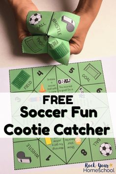 Do you have a special soccer fan in your life? This free printable Soccer Fun Cootie Catcher is an excellent way to have interactive fun at soccer-themed parties, classroom, family, & homeschool fun. Soccer Birthday Parties, Football Birthday, Soccer Party, Soccer Crafts, Football Crafts, Kids Soccer, Soccer Fans, Soccer Scores, Soccer Memes