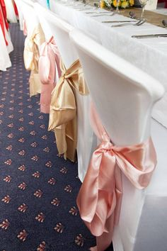 Wedding Fayre Chair Covers £2.50 Chair Sashes 50p