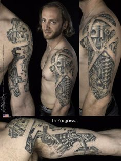 Download Free Bio mechanical chest/arm tattoo | Bio mechanical Tattoos | Pinterest to use and take to your artist.