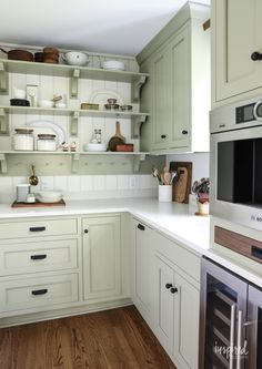 Bayberry Kitchen Remodel Reveal - Inspired by Charm Kitchen Makeover - Kitchen Ideas Kitchen Pantry, New Kitchen, Kitchen Decor, Kitchen Cabinets, Kitchen Ideas, Kitchen Colors, Kitchen Inspiration, Country Kitchen, Kitchen Interior