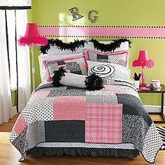Light pink, black, gray, white