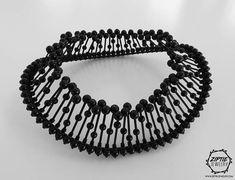 Body Chain Jewelry, Bead Jewellery, Black Metal Rings, Feather Crown, Halo Headband, Unusual Jewelry, Big Black, Contemporary Jewellery, Beaded Necklace