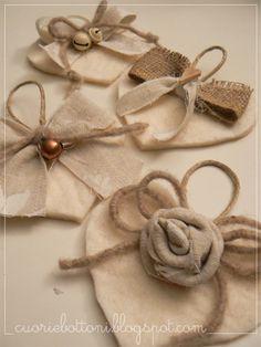 decorazioni di natale in stoffa e lana