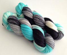 "Hand Dyed Yarn  ""Eternity and a Day""  Superwash by YarnLoftbyJulia, $26.00"