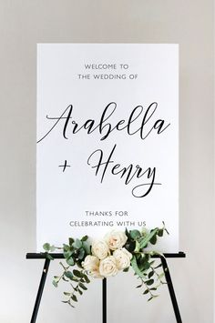 Modern Script Wedding Welcome Sign Template, Ceremony Sign Reception Sign Printable, Instant Downloa Wooden Welcome Signs, Wedding Welcome Signs, Ceremony Signs, Reception Signs, Diy Wedding Stationery, Printable Wedding Invitations, Wooden Wedding Signs, Wedding Signage, Wedding Guest Book