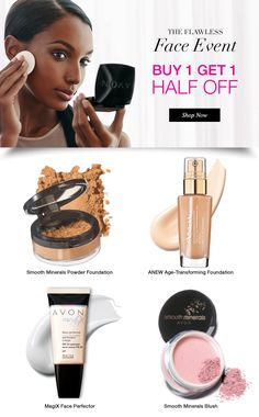Love your face in campaign 8. Buy one, get one half off. Save up to $8. Mix or match.  www.youravon.com/dsheckler #avon #makeup #cosmetics #save