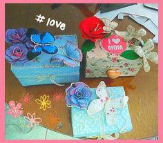 Manualidades dia de las madres, manualidades con caja de leche, joyero s... Love Mom, Shabby Chic, Kids Rugs, Facebook, Vintage, Mary, Decor, Youtube, Milk Box