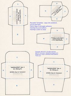 FREE Mini Envelope Template for You! by Else10, via Flickr