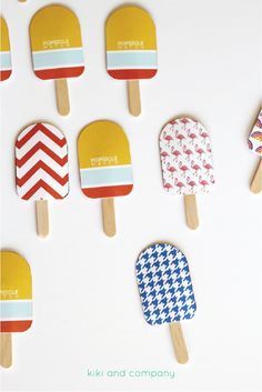 Popsicle Match game from Kiki and Company for iheartnaptime.com