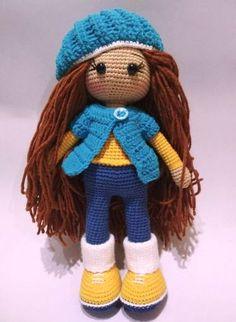 Free crochet doll pattern #amigurumi #amigurumidoll #amigurumipattern #amigurumitoy #amigurumiaddict #crochet #crocheting #crochetpattern #pattern #patternsforcrochet