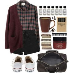 Grunge style, look fashion, autumn fashion, fashion outfits, hipster school Mode Outfits, Grunge Outfits, Fall Outfits, Casual Outfits, Fashion Outfits, Womens Fashion, Hipster School Outfits, Preppy Casual, Fashion Shoes