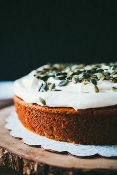 Pumpking Cake with Cream Cheese Frosting