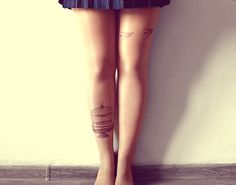 Escape From Cage  Tattoo Tights  Free Shipping  by kellyatlarge, $23.00