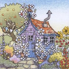 Buy Up the Garden Path Cross Stitch Kit Online at www.sewandso.co.uk