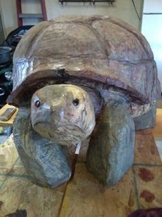 Chainsaw wood carved turtle, made of maple wood. Weighs in at over 150lbs.