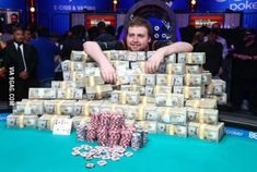 So this guy just won world series of poker main event: $7,683,346!