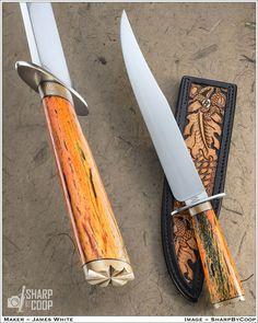Knife Photography, Bowie Knives, Knife Handles, Handmade Knives, Knifes, Swords, Pens, Giraffe, Blade