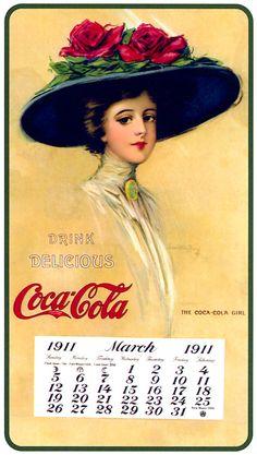 un calendario de Coca Cola. 1911