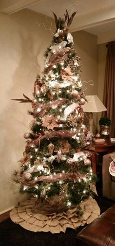 Elegant casual tree in a lovely home in a woodsy area
