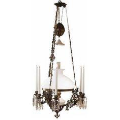 taklampa för el/fotogen/ljus från fotogenlampor.se Dining Room, Chandelier, Ceiling Lights, Lighting, Home Decor, Candelabra, Decoration Home, Room Decor, Chandeliers