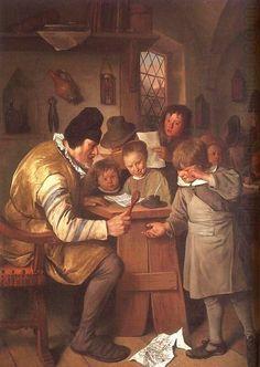 Detalle de Pintura Inventario ::. 00,03739 = Jan Steen ,, El Schoolmaster