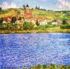 Vetheuil, Afternoon - Claude Monet  --  Completion Date: 1901