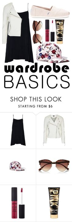 """Wardrobe Basics, Spring Jacket"" by gabriell0emily ❤ liked on Polyvore featuring Topshop, Old Navy, River Island, NYX, TOMS and wardrobebasics"
