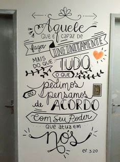Wall drawing ideas inspiration home decor 35 Ideas for 2019 Lettering Tutorial, Room Wall Painting, Chalk Lettering, Wall Decor, Room Decor, Wall Drawing, Posca, Blackboards, Decoration