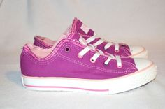Converse All Star Deep Orchid Girls Shoes Size 11 2 3 5 6 Pink Distressed in Girls' Shoes | eBay