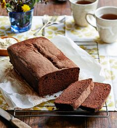 Chocolate loaf: It's an oldie, but it's a goodie! To really impress guests, serve with roasted pears and vanilla custard.