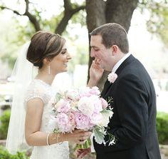 Bride and Groom First Look Stoneleigh Wedding Dallas