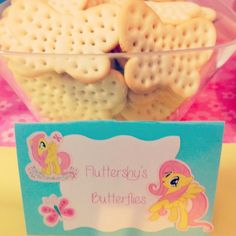 use this sign and make butterfly cookies instead of these plain crackers. :D