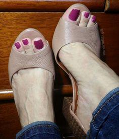 Beautiful peeping toes