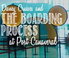 Cruises: The Boarding Process at Port Canaveral Curious about what happens once you arrive at the terminal? Read all about it here.Curious about what happens once you arrive at the terminal? Read all about it here. Disney Halloween Cruise, Disney Magic Cruise, Disney Fantasy Cruise, Disney Cruise Ships, Disney Tips, Disney Planning, Trip Planning, Cruise Tips, Cruise Travel