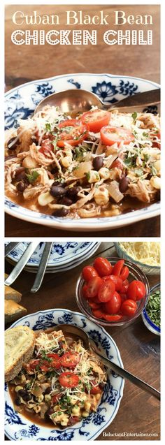 Cuban Black Bean Chicken Chili - Reluctant Entertainer
