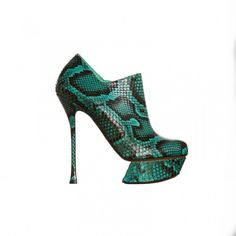 The OUCH Report:  turquoise shoes + snakeskin