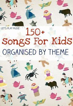 150 free kids songs organised by preschool theme, with lots of activity suggestions for how to use them too! Lets Play Music, Music For Kids, Toddler Music, Toddler Songs With Actions, Music Lessons For Kids, Piano Lessons, Music Classroom, Preschool Classroom, Free Kids Songs